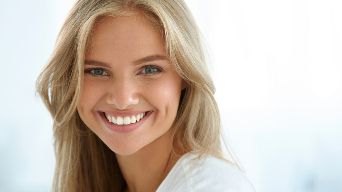 Girl with Beautiful Face Smiling